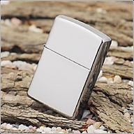 Bật lửa quẹt cổ điển trắng trơn màu bạc thumbnail