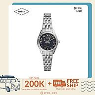 Đồng hồ nữ Fossil Scarlette Mini Three-Hand Date dây thép không gỉ ES5061 - màu bạc thumbnail