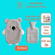 Túi chườm bụng kinh 350ml chườm nóng kích thước 13 cm 22 cm giảm đau hiệu quả - Tặng kèm túi vải đựng băng vệ sinh ( mẫu ngẫu nhiên) cute dễ thương thumbnail