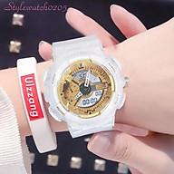 Đồng hồ unisex thể thao Sport Watch chạy kim và điện tử dây cao su chống nước chống xước tốt thumbnail