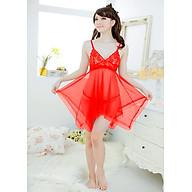 Đầm ngủ sexy ren lưới trong suốt hai dây kèm quần lọt khe gợi cảm - VN21 thumbnail