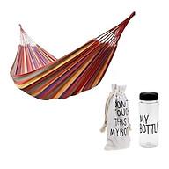 Võng dù kẻ sọc 2 lớp có túi đựng Tặng Kèm Bình nước My Bottle 500ml thumbnail