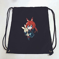 Balo dây rút đen in hình ARKNIGHTS game anime chibi túi rút đi học xinh xắn thời trang thumbnail