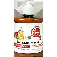 Dầu xả ba tác động Domashnij Doctor ngăn ngừa rụng tóc, mềm mượt chiết xuất dầu thầu dầu 500ml thumbnail
