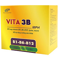 Vitamin b Vita3B - Cung cấp các vitamin thiết yếu cho cơ thể B1, B6, B12. Hỗ trợ tăng cường sức khỏe, giảm mệt mỏi. Hộp 100 viên. SP chính hãng, đạt chuẩn GMP - WHO. thumbnail