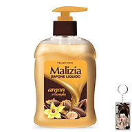 Nước rửa tay tinh dầu Argan và vani Malizia Liquid Soap Argan And Vanilla 300ml tặng kèm móc khóa thumbnail