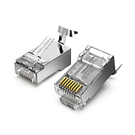 Vention IDER0-50 Cat.7 Network Connector RJ45 Modular Plug Fixed Tail Clamp Design PC Material Cat.7 FTP 50 Pieces thumbnail
