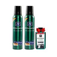 Combo 2 Mousse tạo kiểu tóc nam Romano Classic (175g 2) +Tặng Dầu gội sạch gàu Romano 60g thumbnail