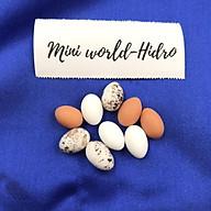 Combo rổ rá giỏ nhựa đi chợ trứng gà vịt cút mini tí hon mô hình dùng cho trang trí nhà búp bê BJD Barbie tỉ lệ 1 12,1 8 thumbnail