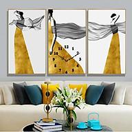 Tranh treo tường, tranh đồng hồ NT221 bộ 3 tấm ghép thumbnail