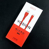 Dây Cáp Sạc Recci Micro USB Vosion - Red - Hàng chính hãng thumbnail