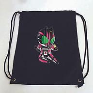 Balo dây rút đen in hình KAMEN RIDER anime chibi túi rút đi học xinh xắn thời trang thumbnail