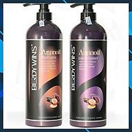 Bộ dầu gội xả BERDYWINS Argan Oil siêu mượt phục hồi tóc hư tổn 1000ML thumbnail