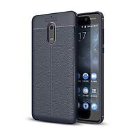 Ốp lưng Silicon Auto Focus giả da, chống sốc dành cho Nokia 6 - Hàng Chính Hãng thumbnail