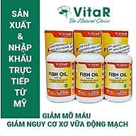 COMBO 3 HỘP DẦU CÁ VITAR FISH OIL 1000MG 100 VIÊN - TPBVSK - Bổ sung Omega-3, DHA và EPA - Sản xuất và nhập khẩu trực tiếp từ Mỹ (USA) thumbnail