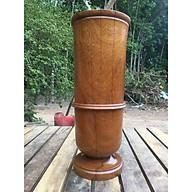 Bình hoa gỗ Hương, Gõ đỏ cao 27cm thumbnail