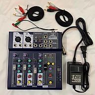 Combo trọn bộ sound card Mixer F4 USB thu âm livestream, karaoke cực hay, Micro BM-900, Kẹp bàn màng lọc, tai nghe kiểm âm 450P thumbnail