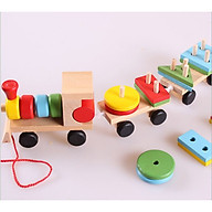 Đoàn tàu xếp hình khối gỗ thumbnail
