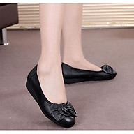 Giày da búp bê đính nơ DS042 thumbnail