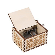Wood Music Box Mini Vintage Engraved Hand-Operated Musical Box Birthday Christmas Valentine S Day Exquisite Gift thumbnail