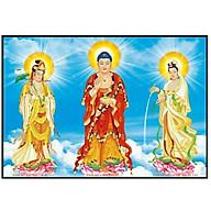 Tranh đính đá Phật Tam Thánh (105 75cm) chưa đính đá thumbnail