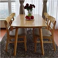 Bộ bàn ăn màu tự nhiên 4 ghế thumbnail