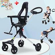 Xe đẩy em bé, Xe đẩy du lịch gấp gọn TW0205 đảo chiều cao cấp với lưng ghế ngả được 100-110-130 độ giúp bé thoải mái tuyệt đối, mẫu mới nhất 2021 - TẶNG KÈM BỘ THẺ HỌC THÔNG MINH 16 CHỦ ĐỀ 416 THẺ CHO BÉ thumbnail