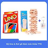 Bộ Rút gỗ 54 thanh và UNO Kèm móc khóa TTH thumbnail