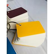 combo 1000 thẻ flashcard trắng 5x8cm giấy ivory cao cấp bo góc tặng kèm khoen+ bìa bộ thẻ ghi nhớ học từ vựng anh nhật hàn (màu bìa ngẫu nhiên) thumbnail