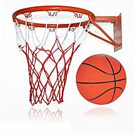 Bộ khung và bóng rổ tiêu chuẩn - có kèm lưới khung,túi đựng bóng và kim bơm bóng thumbnail