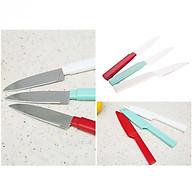 Bộ 3 dao gọt trái cây chuyên dụng có nắp tiệt trùng (Giao màu ngẫu nhiên) - Hàng nội địa Nhật thumbnail