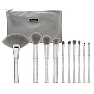 Bộ 10 Cọ Trang Điểm BH Cosmetics Smoken Mirrors 10 Piece Metalized Brush Set With Bag thumbnail