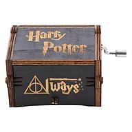 Hộp Nhạc Gỗ Harry Potter - Hedwig s Theme - Đen thumbnail