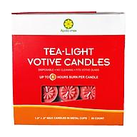 Nến tealight 50 viên màu đỏ không mùi dày 1.5cm cháy từ 4h-5h Bio Aroma thumbnail