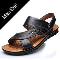 Giày Sandal phong cách thời trang Nhật Bản đế mềm chất liệu da bò thật phù hợp với các mùa trong năm mã 12129 thumbnail