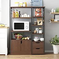 Tủ bếp đa năng- cửa dọc và 2 ngăn kéo - Giao màu ngẫu nhiên thumbnail