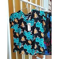 Bộ mặc nhà nữ trung tuổi ngắn tay mặc hè chất mát, làm quà tặng mẹ họa tiết trang nhã dáng suông, quần lửng thumbnail