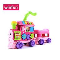 Xe tập đi trẻ em hình tàu hoả kết hợp xe chòi chân 2 trong 1 Winfun 0803 - Tặng đồ chơi tắm 2 món thumbnail