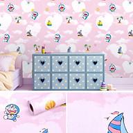 Combo 10m giấy dán tường Doraemon hồng thumbnail