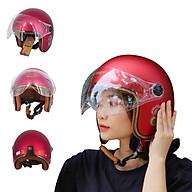 Mũ bảo hiểm 3 4 SRT Kính Càng Liền Lỗ Thông Gió - Viền Đồng thumbnail
