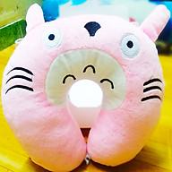 Gối Cổ Chữ U Hình Mèo Totoro Hồng Siêu Mịn thumbnail