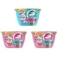 Combo 3 hộp 18 viên nước giặt xả hương hoa nội địa Nhật Bản thumbnail