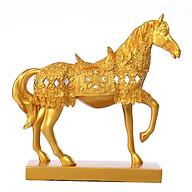 Tượng ngựa phong thủy mạ lớp vàng 24k mã đáo thành công thumbnail