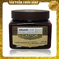 Mặt nạ ủ tóc Arganicare Castor hair masque bóng mượt phục hồi ngăn rụng Israel 500ml thumbnail