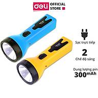 Đèn pin sạc đa năng Deli - màu xanh vàng- 1 chiếc - 3662 thumbnail