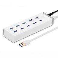 Hub đa năng 10 cổng USB 3.0 dài 1m UGREEN CR117 20297 - Hàng Chính Hãng thumbnail