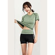 Bộ quần áo tập Gym nữ - Set quần đùi và áo thun thể thao tay ngắn thumbnail