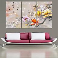 Tranh treo tường, tranh đồng hồ NT042 bộ 3 tấm ghép thumbnail