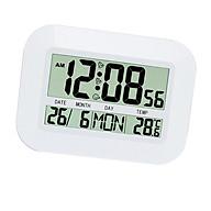 Large LCD Digital Clock Temperature Meter Clock Calender Snooze Alarm Clock thumbnail