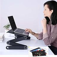Bàn để laptop, máy tính gấp gọn xoay 360 độ, để được nhiều kiểu, nhiều tư thế khác nhau, màu ngẫu nhiên + Tặng kèm miếng lót chuột, mẫu ngẫu nhiên thumbnail